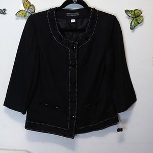 Dressbarn black NWOT lined crop jacket